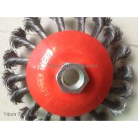 Wholesale 4.5inch twisted knot wire bevel brush with threaded arbor from china suppliers