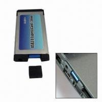 Wholesale USB 3.0 Pcmcia Card with Plug-and-play and Hot-swappable Functions, Suitable for Notebook Computer from china suppliers
