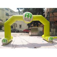 Wholesale Yellow Color Custom Inflatable Arch Rental Flame Retardant For Sport from china suppliers