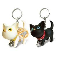 Mini Cat Key Ring/cartoon key chains black&white one pair lover key rings lovely key chains