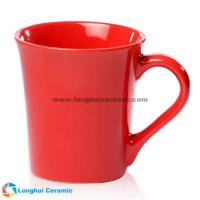 China China factory/manufacturer supplied 16oz Custom trumpet-shaped glossy ceramic coffee mug for sale