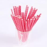 Wholesale Wholesale custom food grade paper drinking straws printed from china suppliers
