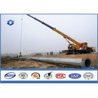 Best Hot Dip Galvanized Power Transmission Poles / Power And Data Distribution Poles wholesale