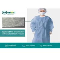 Non Toxic Medical Breathable Non Woven Fabric Disposable Surgical Gown Fabrics for sale