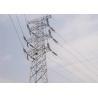 Four - Leg Steel Transmission Tower 10KV - 1000KV Voltage With Connection Bolts for sale