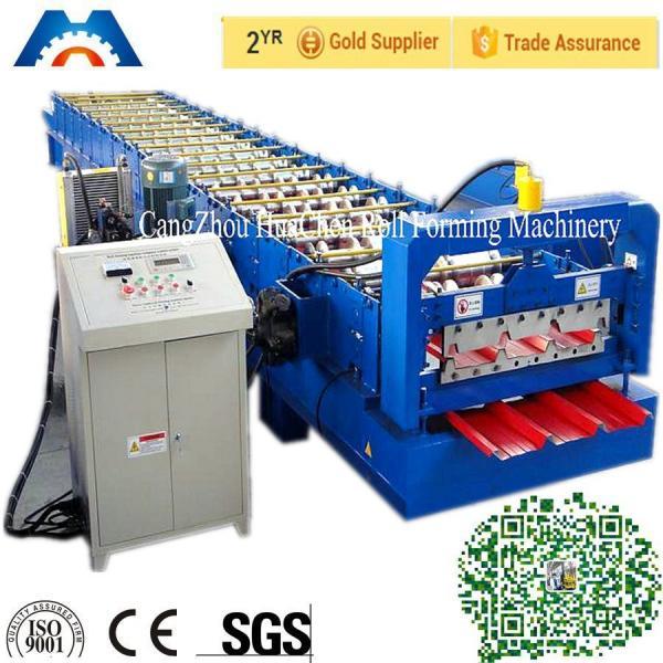 Quality PBR / PBU Roofing Sheet Roll Forming Machine PLC Control Hydraulic Cutting for sale