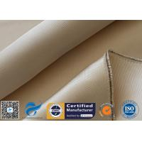 China 800℃ 600g Brown High Silica Cloth Fiberglass Fabric For Fire Blanket on sale