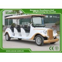 White 6 Seats Electric Classic Cars AE Approved Classic Car Golf Carts for sale