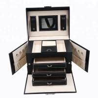 China Locked Portable Jewelry Display Cases , Portable Earring Organizer Box for sale