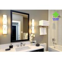 Square Shaped Contemporary Silver Wall Mirror Long Service Life Ultra Clear Glass Material for sale
