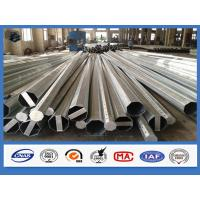 Polygonal / Tubular galvanized structural steel tubing , AWS D1.1 standard galvanised metal posts