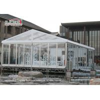 Buy cheap 200 People Transparent Marquee  Tent  / Waterproof Event Tent A Shape Style from wholesalers
