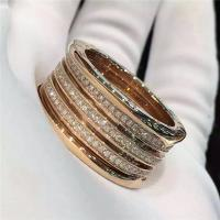 Best Bvlgari B.zero1 4-band ring in 18kt pink gold with pave diamonds AN857022 wholesale