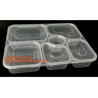 Wholesale Disposable biodegradable plastic fiffin lunch box,compartment lunch box with lid,clamshell food packaging macaron pp bli from china suppliers