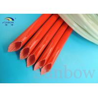 Quality 2753 Silicone Fiberglass Sleeving , Fiber Glass Silicon Resin Sleeving UL for sale