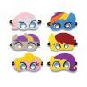 cheap custom colorful halloween superhero felt masks for sale