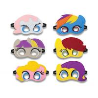 custom colorful halloween superhero felt masks for sale