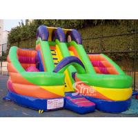 Wholesale 6x6m millenmium kids inflatable slide with obstacles N tunnel for outdoor parties from china suppliers