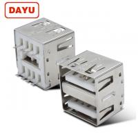Wholesale 14mm 180 Degree DIP USB A Dual USB Female Connector Type A Plug Socket from china suppliers