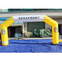 Wholesale Custom Made Yellow Inflatable Arches EN71 For Outdoor Advertising from china suppliers