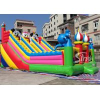 Quality commercial grade backyard gaint inflatable dry slide for kids fun from for sale