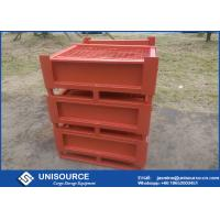 Quality Stackable Foldable Metal Box Industrial Steel Pallet Cages For Logistics for sale