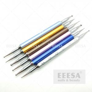 Wholesale Metal Handle  DIY Nail Dotting Tools 2 Way Nail Diamond Painting from china suppliers