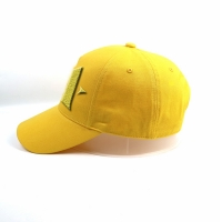Wholesale Factory manufacture customized Lemon yellow 5panel logo plastic buckle baseball caps hats from china suppliers