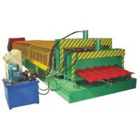 Speed 0-15m/Min Sheet Metal Roll Forming Machines / Metal Roofing Equipment