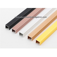Wholesale Shiny Glossy Aluminium U Channels Shower Tile Metal Edge For Interior Decor from china suppliers