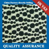 Wholesale 2014 china factory wholesale new design Black dot design Nylon & Cotton lace fabric from china suppliers