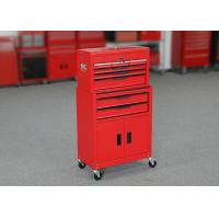 China ISO9001 24 Inch Red Color Garage Metal Tool Cabinet + Tool Chest Combo for sale