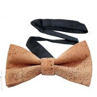 China Factory Wholesale Men's Cork Bow Tie Adjustable to fit neck sizes from Length 11 inches to 20 inches for sale