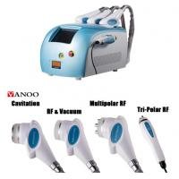 Wholesale Blue Portable Cavitation RF Body Slimming Machine 4 In 1 4 Handpiece Body Weight Loss Machine from china suppliers