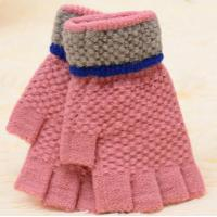 China winter wool open finger gloves on sale