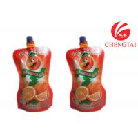 Wholesale Orange Juice / Water Shaped Drink Stand Up Pouch With Spout Bag from china suppliers