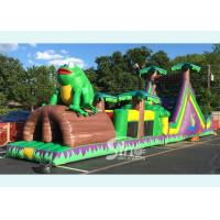 Buy cheap 50ft kids and adults giant inflatable tropical obstacle challenge course with from wholesalers