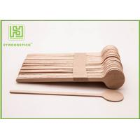 China Customized Logo Printed Wooden Coffee Stirrer Sticks Wooden Coffee Spoon 1000pcs / Box on sale