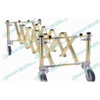 Buy cheap Golden Foldable Aluminum Alloy Funeral Equipment Coffin Trolley with Castor from wholesalers