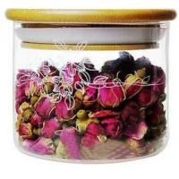 Wholesale Stackable Glass Tea Storage Jars / Container 500ml With Bamboo Lid from china suppliers