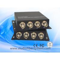 Wholesale 4ch analog video fiber transmitter and receiver with rs422/232/485 or analog audio in iron case from china suppliers