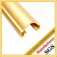 Wholesale stairs handrail brass extrusion profiles from china suppliers