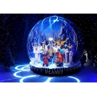 Wholesale Custom LED 0.65mm PVC Inflatable Christmas Snow Globe from china suppliers