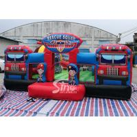 Wholesale Giant Rescue Squad inflatable Amusemenet Park Playground For kids Outdoor fun from china suppliers