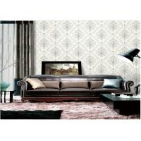 Removable Embossed Vinyl Wallpaper , Washable Embossed Textured Wallpaper