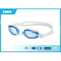 China Excellent performance silicone Blue Lens child swim goggles anti fog on sale