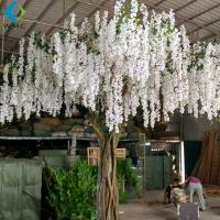 China White Artificial Flower Tree For Wedding , 5-10 Years Life Time Faux Flower Tree for sale
