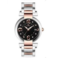 Best 40.0mm japan movt with calendar full stainless steel watches ,Men's steel wrist watch wholesale