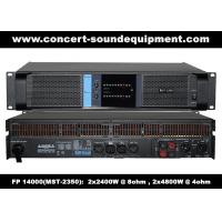 Buy cheap High Output 2x2400W FP 14000 Switching Power Amplifier With NOVER Power Capacitors from wholesalers