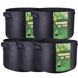 China Garden Grow Bags 3 Gallon 5 Gallon 10 Gallon 25 Gallon 100 Gallon Aeration Fabric Pots Container Garden Potato Felt Grow on sale
